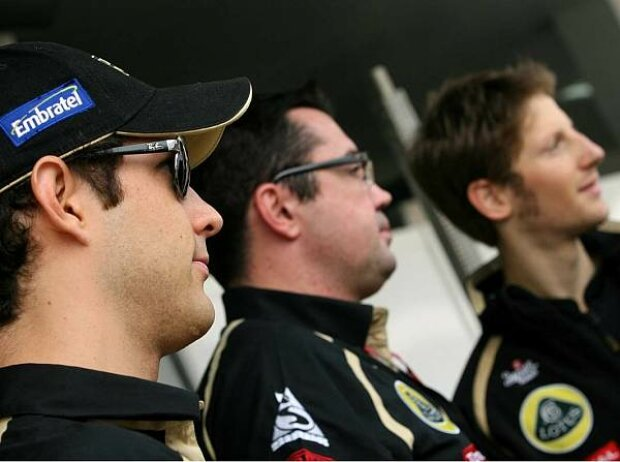Romain Grosjean, Eric Boullier, Bruno Senna