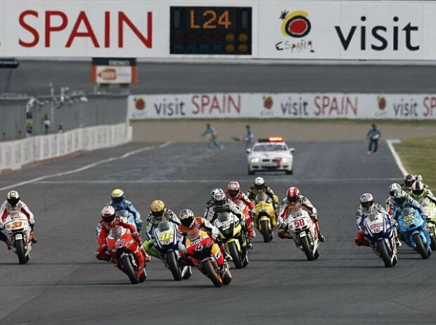 Start zum MotoGP-Rennen in Motegi 2010