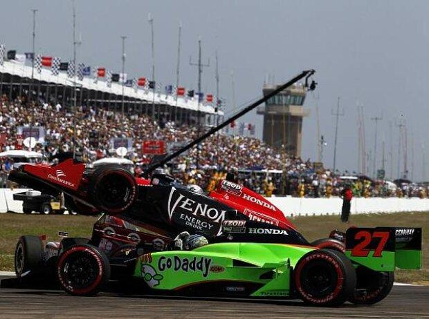 Marco Andretti, Scott Dixon, Mike Conway