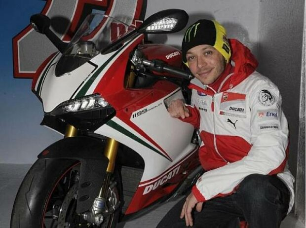 Valentino Rossi mit der Ducati 1199 Panigale