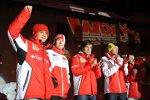 Felipe Massa, Nicky Hayden, Fernando Alonso und Valentino Rossi