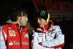 Fernando Alonso und Valentino Rossi