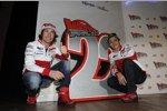 Nicky Hayden und Valentino Rossi