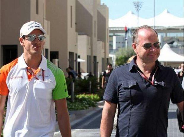 Adrian Sutil und Manfred Zimmermann