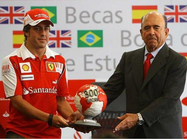 Fernando Alonso und Emilio Botin
