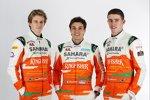 Nico Hülkenberg , Jules Bianchi und Paul di Resta (Force India)
