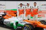 Jules Bianchi, Paul di Resta und Nico Hülkenberg (Force India)