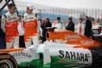 Paul di Resta (Force India) Nico Hülkenberg (Force India)