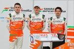 Paul di Resta, Nico Hülkenberg und Jules Bianchi (Force India)