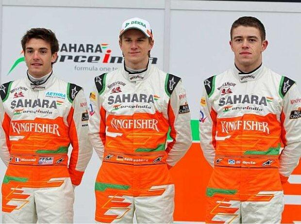 Paul di Resta, Nico Hülkenberg, Jules Bianchi