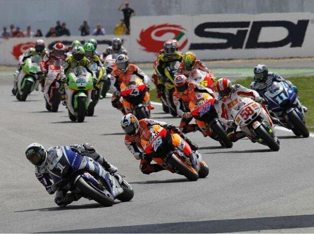 Start zum MotoGP-Rennen in Estoril 2011