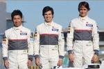 Kamui Kobayashi, Sergio Perez und Esteban Gutierrez
