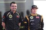 Eric Boullier (Teamchef) und Kimi Räikkönen (Lotus)