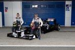 Bruno Senna und Pastor Maldonado mit dem neuen Williams-Renault FW34