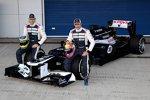 Bruno Senna und Pastor Maldonado und der Williams-Renault FW34