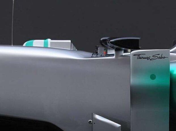 Deflektor am Mercedes F1 W03