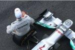 Michael Schumacher (Mercedes) und der Mercedes F1 W03