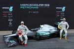 Michael Schumacher und Nico Rosberg auf dem Mercedes F1 W03