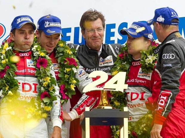 Wolfgang Ullrich (Audi Sportchef), Benoit Treluyer, Marcel Fässler