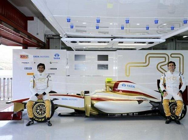 Narain Karthikeyan und Pedro de la Rosa mit dem HRT-Cosworth F112