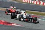 Felipe Massa (Ferrari) Sergio Perez (Sauber)