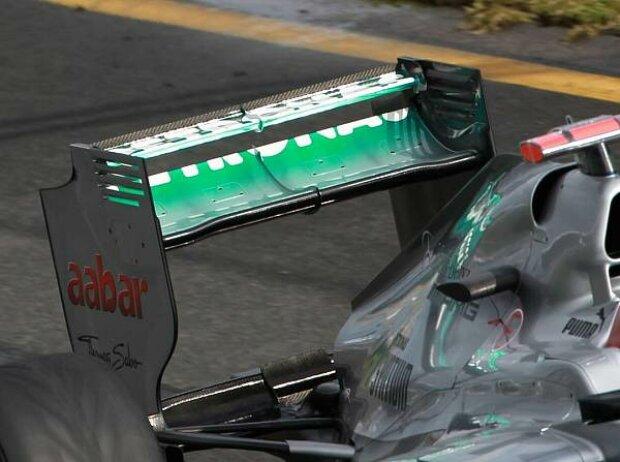 Heckflügel des Mercedes F1 W03