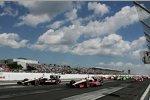 Will Power und Ryan Briscoe (beide Penske) führten das IndyCar-Feld in die Saison 2012