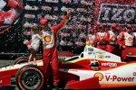 Helio Castroneves (Penske) feierte seinen dritten St-Pete-Sieg