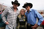 Country-Sänger Trace Atkins, Miss-Sprint-Cup Jaclyn Roney und Richard Petty
