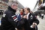 Ross Brawn (Teamchef) und Norbert Haug (Mercedes-Motorsportchef) (Mercedes)