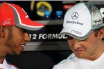 Lewis Hamilton (McLaren) und Nico Rosberg (Mercedes)