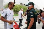 Lewis Hamilton (McLaren) und Heikki Kovalainen (Caterham)