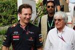 Christian Horner (Teamchef) und Bernie Ecclestone (Formel-1-Chef)