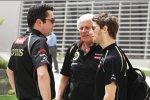 Eric Boullier mit Romain Grosjean (Lotus)