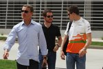 David Coulthard (Mücke-Mercedes) und Paul di Resta (Force India)