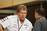 Norbert Haug (Mercedes-Motorsportchef) mit Jean Todt