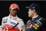 Lewis Hamilton (McLaren) und  Sebastian Vettel (Red Bull)