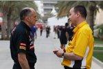 Franz Tost (Teamchef) und Rob White (Motorenchef)