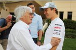 Bernie Ecclestone (Formel-1-Chef) und Nico Rosberg (Mercedes)