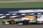 Paul di Resta (Force India) und Sergio Perez (Sauber)