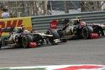 Kimi Räikkönen (Lotus) und Romain Grosjean (Lotus)