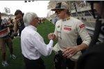 Kimi Räikkönen (Lotus) Bernie Ecclestone (Formel-1-Chef)