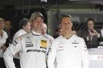 Ralf Schumacher (HWA-Mercedes) und Michael Schumacher (Mercedes)