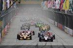 Restart mit Will Power (Penske) und Ryan Hunter-Reay (Andretti)