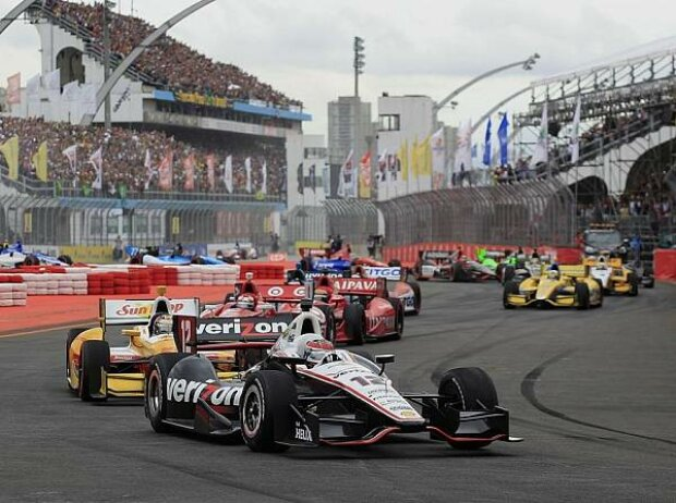 Will Power, Ryan Hunter-Reay, Scott Dixon, Tony Kanaan