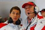 Loic Duval und Wolfgang Ullrich (Audi-Sportchef)