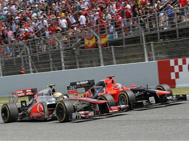 Timo Glock, Lewis Hamilton