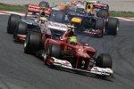 Felipe Massa (Ferrari) Lewis Hamilton (McLaren) Mark Webber (Red Bull)