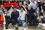 Pastor Maldonado (Williams) und Frank Williams (Teamchef) mit Toto Wolff