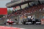 Pastor Maldonado (Williams) und Fernando Alonso (Ferrari)